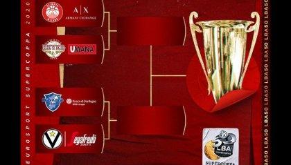 Supercoppa, le semifinali sono Milano-Venezia e Sassari-Virtus