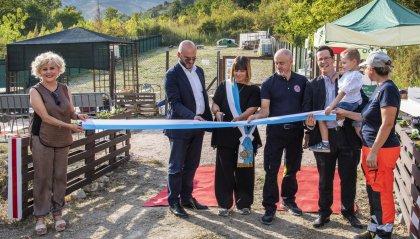 APAS: inaugurate nel pomeriggio di oggi a Faetano l'area di sgambamento cani e l'area di addestramento cani da ricerca in superficie