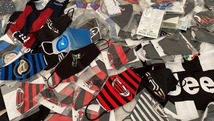 Rimini: sequestrate mascherine contraffatte con i loghi delle squadre di Serie A