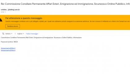 Trojan in mail fasulle, sotto attacco diverse caselle sammarinesi. Segreteria Interni invita a non aprire allegati
