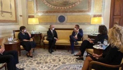 Beccari incontra il nuovo Ambasciatore d'Italia, Sergio Mercuri