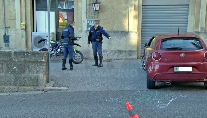 Scontro auto-moto in Città, studente sammarinese trasportato in ospedale