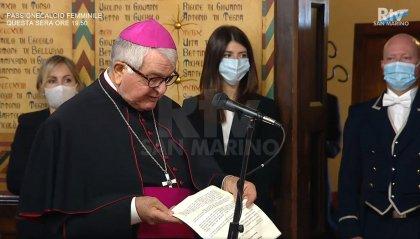 Il saluto dell'Ecc.mo Nunzio Apostolico, Mons. Emile Paul Tscherrig