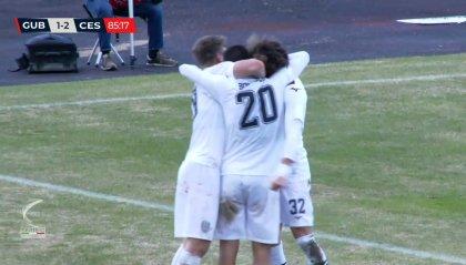 Cesena micidiale in trasferta, Gubbio battuto 1-2