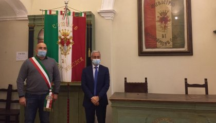 Il prefetto Giuseppe Forlenza in visita a Montefiore Conca