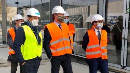 I Segretari di Stato Lonfernini e Righi in visita questa mattina a The Market San Marino, l'outlet destinato a diventare il più esclusivo e contemporaneo d'Europa