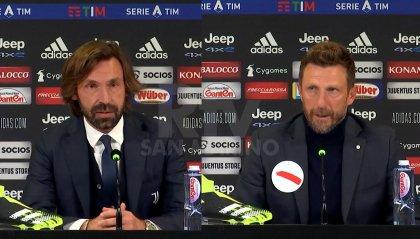 Pirlo elogia le prestazioni di Arthr e Bernardeschi. Di Francesco ammette la superiorità bianconera
