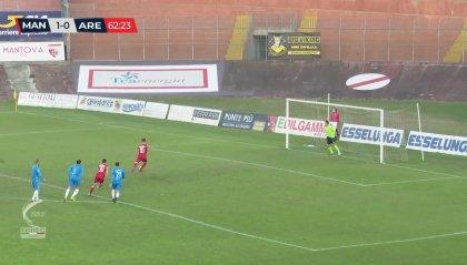 Serie C: l'Arezzo riparte ma arriva un'altra sconfitta.  Il Mantova vince il recupero