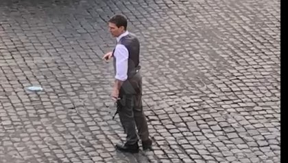 "Tom Cruise a Roma per ""Mission Impossible 7"": eccolo sul set"