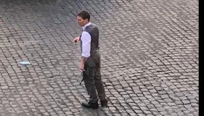 """Tom Cruise a Roma per """"Mission Impossible 7"""": eccolo sul set"""