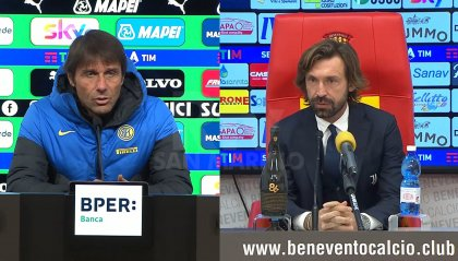 Conte e Pirlo in conferenza stampa post partita