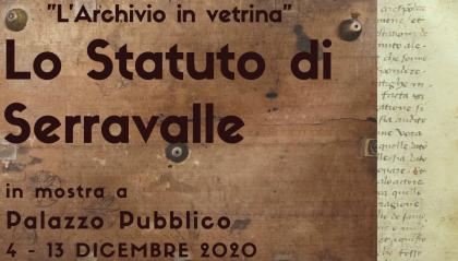 Lo statuto di Serravalle, prezioso documento del 1437, in mostra a Palazzo Pubblico