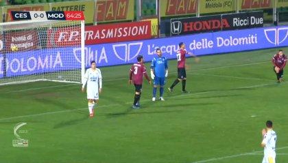 Cesena-Modena 0-0, i bianconeri sfiorano il colpo allo scadere