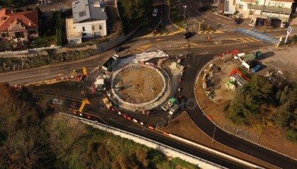 Nuova rotonda di Murata: lavori in stato avanzato