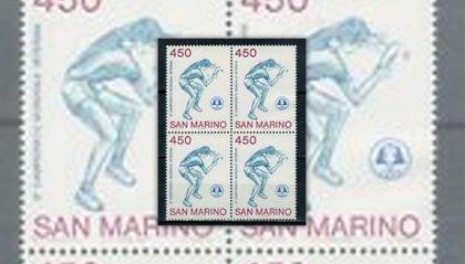 Il primo francobollo di San Marino 1986 dedicato al Tennistavolo
