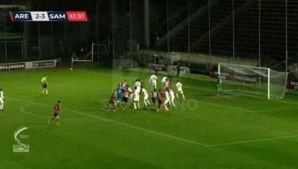 Serie C: nel recupero della 10° giornata Arezzo – Sambenedettese 2-3