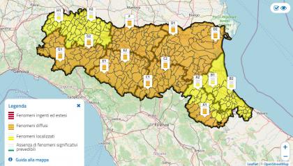 Maltempo: nuova allerta arancione in Emilia Romagna per piogge intense e mareggiate