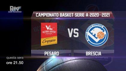 Alle 21.50 su San Marino RTV, Carpegna Prosciutto - Germani Brescia