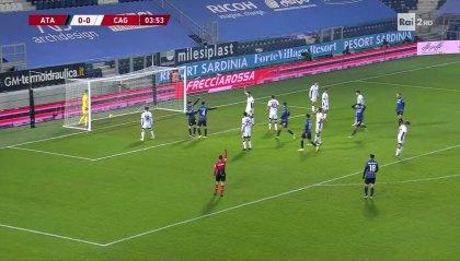 Atalanta ai quarti di finale: 3-1 al Cagliari