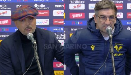 Bologna-Verona, le parole di Mihajlovic e Juric