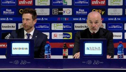 """Di Francesco: """"Arbitraggio non all'altezza"""" Pioli: """"Ibra è un campione"""""""