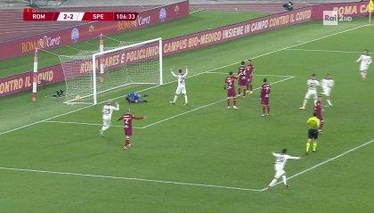 Disastro Roma, con 4 gol e 6 cambi va fuori con lo Spezia