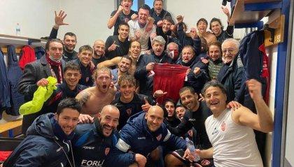 Il Forlì vince a Fiorenzuola al 92°. Per l'Aglianese solo un pareggio