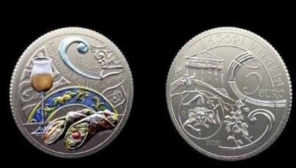 Presentata la moneta dedicata al cannolo e al passito