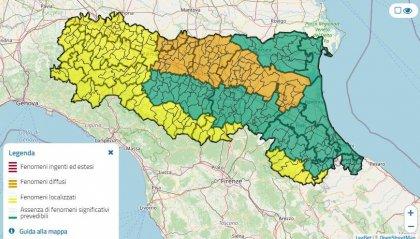 Continua lo stato di allerta in Emilia-Romagna, fenomeni in esaurimento nella pianura romagnola