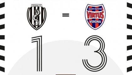 Il Cesena tiene la palla, la Virtus Verona fa 3 gol (1-3)