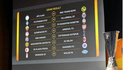 Ottavi: Manchester United-Milan e Roma-Shakhtar