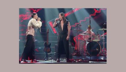 """Maneskin e Manuel Agnelli sul palco di Sanremo: """"Dio li fa poi li accoppia"""""""