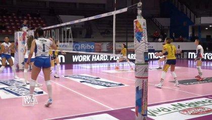 Bergamo scappa, Trentino vince: 2-3 nel recupero del volley