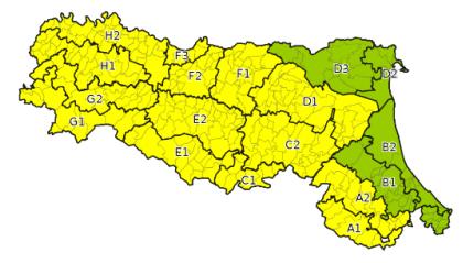 Allerta Meteo in Emilia Romagna fino alla mezzanotte di domani