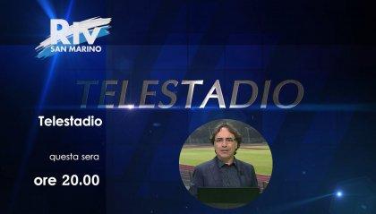 Tele Stadio: ospiti Narducci della Libertas, Costantini del Tre Penne e Cangini, allenatore del Domagnano