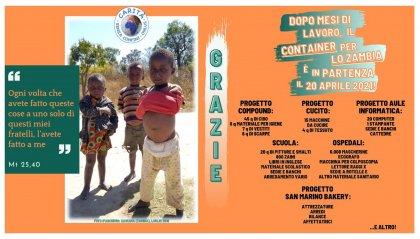 In viaggio verso lo Zambia il container di Carità senza Confini