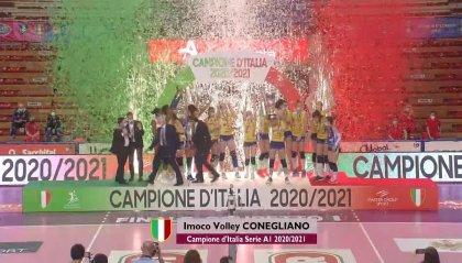 Conegliano perfetta, campione d'Italia senza sconfitte