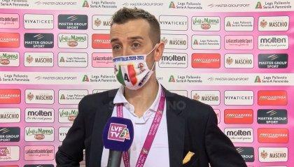 """Conegliano, coach Santarelli: """"Novara nemica leale, contenti per lo Scudetto"""""""