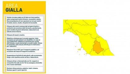 Verso giallo per Emilia Romagna e Marche, arancioni 4 regioni, Sardegna rossa