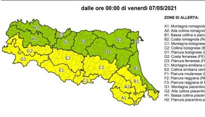 Meteo: allerta protezione civile E.R. nelle prossime 24 ore per vento forte