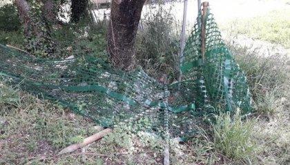 Serravalle: divelta la protezione al Pistino Mtb, il giorno dopo il montaggio