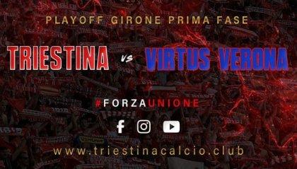 Domenica il recupero Triestina-Virtus Verona