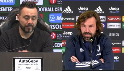 """De Zerbi"""" Juve ferita e arrabbiata, troverà un Sassuolo con grandi motivazioni"""" Pirlo:"""" non voglio vedere rassegnazione"""""""