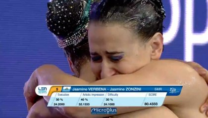 Europei: grande prova di Jasmine Verbena e Jasmine Zonzini
