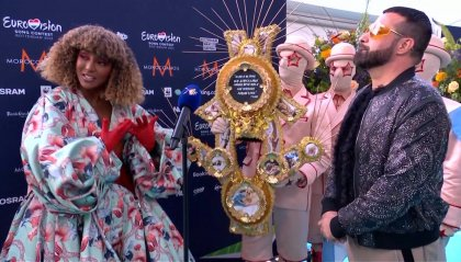 Senhit sfila per San Marino sul Turquoise Carpet di Rotterdam
