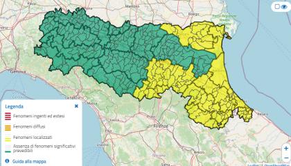 Il garbino non molla la presa, prolungata l'allerta meteo in Emilia-Romagna