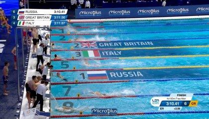 Europei: Italia di bronzo nella 4x100