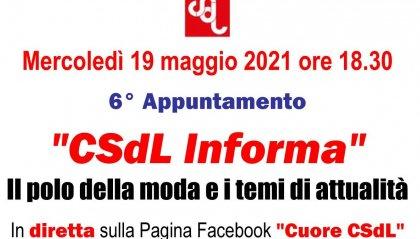 """Polo della moda e temi di attualità, domani sesto appuntamento di """"CSdL Informa"""""""