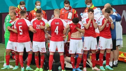 Malore per Christian Eriksen, sospesa Danimarca – Finlandia