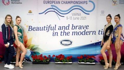 Le ginnaste biancazzurre in crescita agli Europei di ritmica